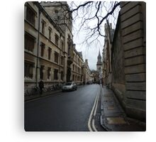 Streets of Oxford Canvas Print
