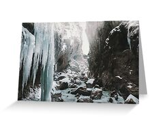 Cold and beautiful landscape Greeting Card