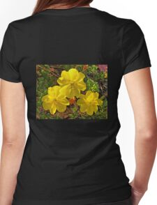 Beach Evening Primrose Womens Fitted T-Shirt