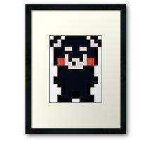 Pixel Kumamon Framed Print