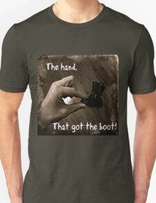 The Hand that got the Boot - Bedding - Pillows - Bags - iphone T-Shirt