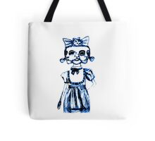 don't stare too long - blue ink drawing by minxi Tote Bag