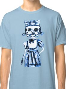 don't stare too long - blue ink drawing by minxi Classic T-Shirt
