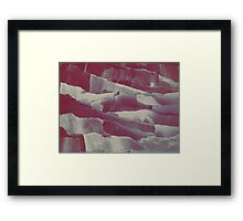 Paper Layers Magenta Framed Print