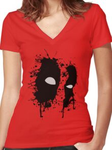 Eyes of the anti-hero Women's Fitted V-Neck T-Shirt