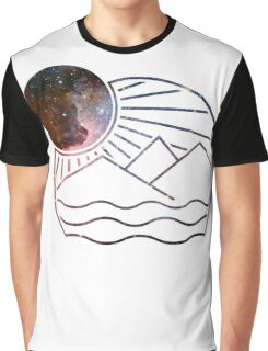 Galaxy landscape Graphic T-Shirt