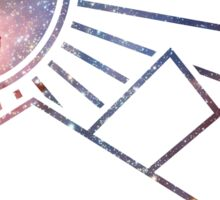 Galaxy landscape Sticker