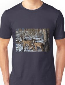 Pennsylvania Deer in Winter Unisex T-Shirt