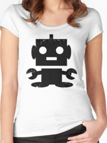 Cute Robot Women's Fitted Scoop T-Shirt