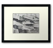 Paper Layers White Framed Print