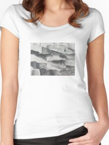 Paper Layers White Women's Fitted Scoop T-Shirt