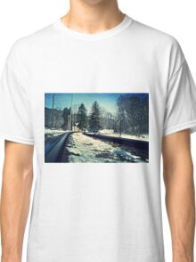 Snow Covered Tracks Classic T-Shirt