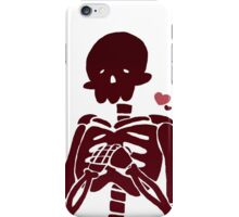 Red Skelly iPhone Case/Skin