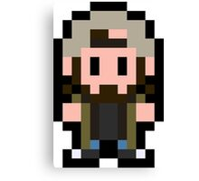 Pixel Silent Bob Canvas Print