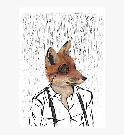Hipster fox  Photographic Print