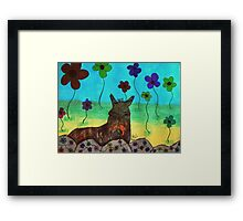 A wonderland of flowers Framed Print