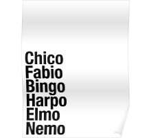 Finding Nemo Names List Poster