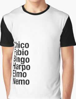 Finding Nemo Names List Graphic T-Shirt