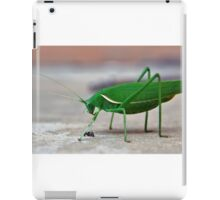 The Grass(hopper) is Greener iPad Case/Skin