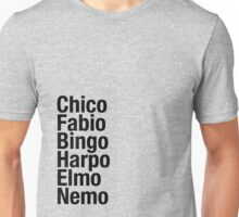 Finding Nemo Names List Unisex T-Shirt