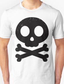 Cute Skull and Crossbones (black) Unisex T-Shirt