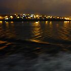 Sailing into Lerwick before dawn by Anna Myerscough