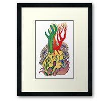 Jackalope Skull Framed Print