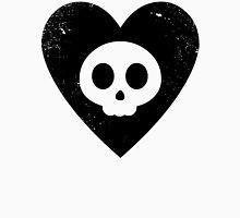 Cute Skull in Heart (black) Unisex T-Shirt