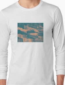Paper Layers Turquoise Long Sleeve T-Shirt