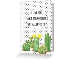 Prickly Cactus and Triangle cacti Graphics Greeting Card