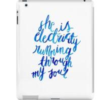 Electricity Running Through My Soul iPad Case/Skin