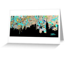 New York City in Vinyl Greeting Card