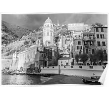 Vernazza in Black and White Poster