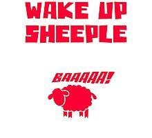 Wake Up Sheeple Funny T Shirt Photographic Print