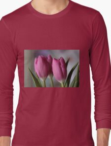 Pink tulips Long Sleeve T-Shirt