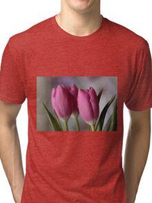 Pink tulips Tri-blend T-Shirt