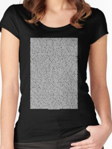 Bee movie script black shirt Women's Fitted Scoop T-Shirt