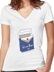 Winnie Blue's Mate  Women's Fitted V-Neck T-Shirt