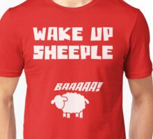 Wake Up Sheeple Funny T Shirt Unisex T-Shirt