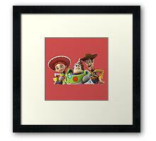 3 story toy Framed Print
