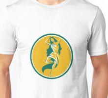 Aphrodite Pirouette Oval Retro Unisex T-Shirt