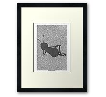 Bee script silhouette Framed Print