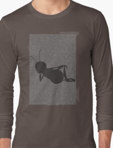 Bee script silhouette Long Sleeve T-Shirt