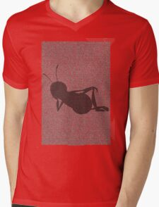 Bee script silhouette Mens V-Neck T-Shirt