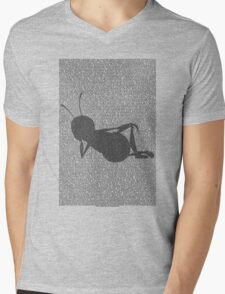 Bee script silhouette Mens V-Neck T-Shirt