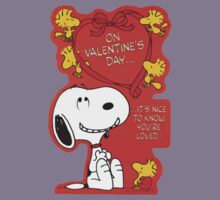 Snoopy on Valentine's Day Kids Clothes