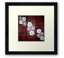 Cherry Blossoms on Red Framed Print