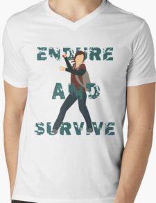 Endure and Survive Mens V-Neck T-Shirt