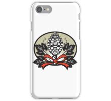 Thyrsus Pine Cone Staff Leaves Oval Retro iPhone Case/Skin