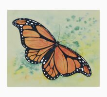 Wanderer (Monarch) Butterfly Watercolour Painting Kids Clothes